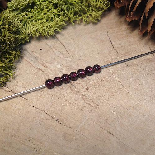 Perle grenat 4 / 4.5mm