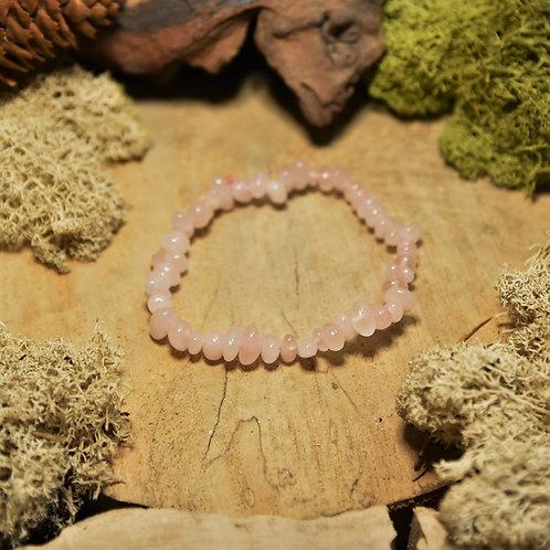 Bracelet baroque - quartz rose