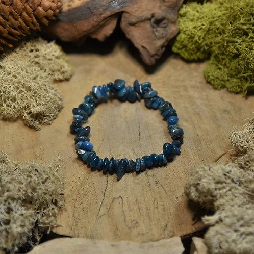 Bracelet baroque - apatite bleue AA