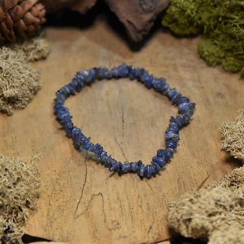 Bracelet baroque - cyanite bleue