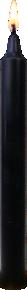 Bougie Teintée Masse - Coloris Noir