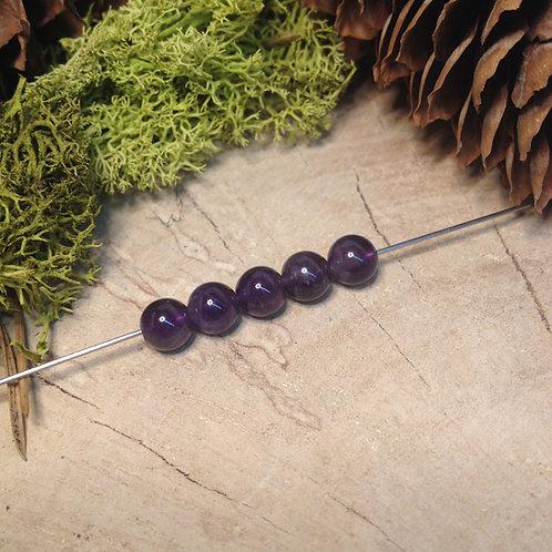 Perle améthyste 6 / 6.5mm