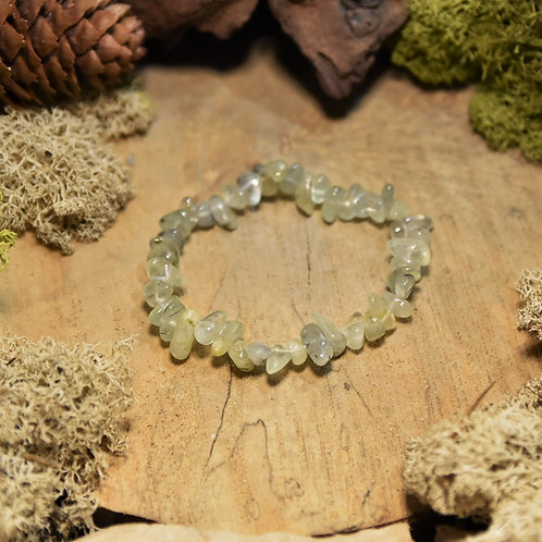 Bracelet baroque - préhnite