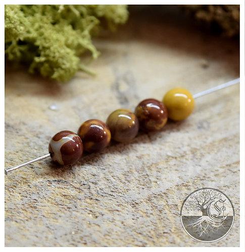 Perle de Mokaïte - 8mm