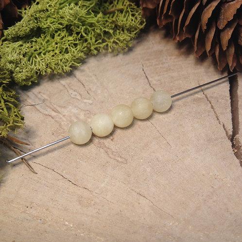 Perle calcite jaune dépolie 6 / 6.5mm