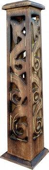 Porte encens en bois tour antique ciselé