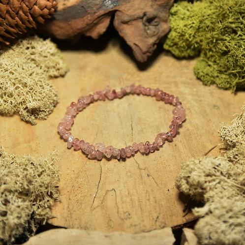 Bracelet baroque - quartz fraise - lépidocrocite