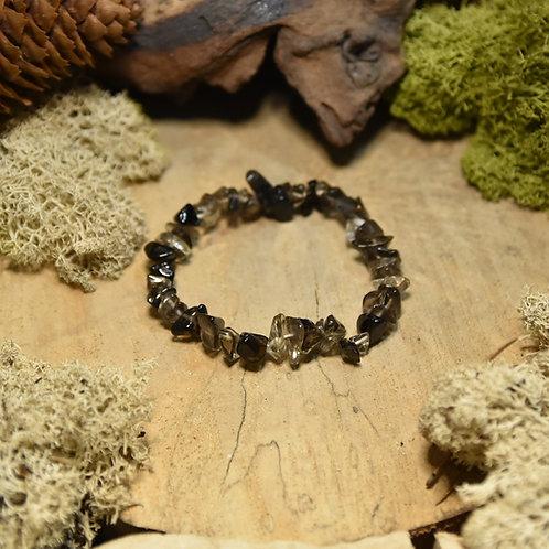 Bracelet baroque - quartz enfumé