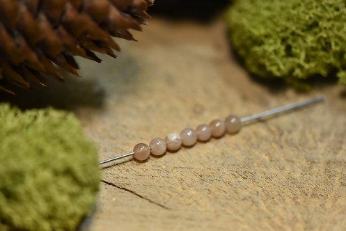 """Perle oligoclase """"pierre de soleil"""" 4 / 4.5mm"""