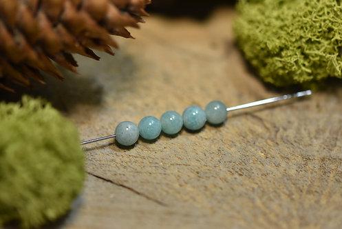 Perle amazonite 6 / 6.5mm