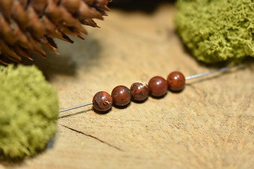 Perle jaspe bréchique 6 / 6.5mm