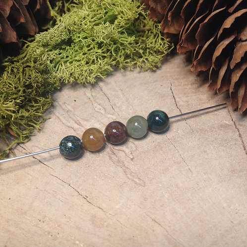 Perle jaspe indien 6 / 6.5mm