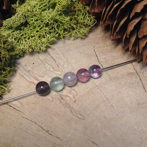 Perle fluorite 6 / 6.5mm