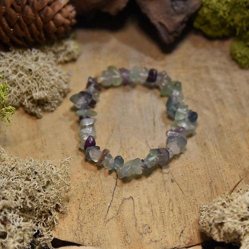 Bracelet baroque - fluorite