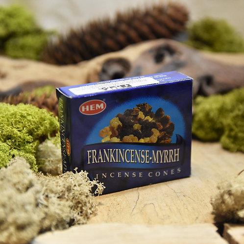 Encens Hem en cônes - Frankincense / Myrrh