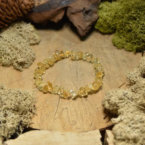 Bracelet baroque - citrine chauffée A