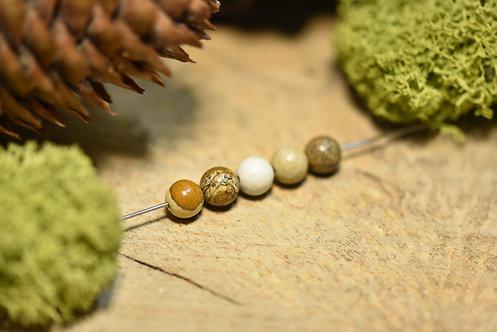 Perle jaspe paysage 6 / 6.5mm