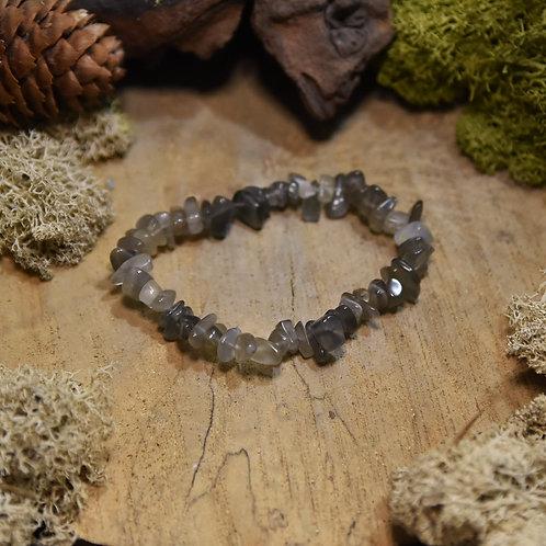 """Bracelet baroque - adulaire """"pierre de lune"""" sombre"""