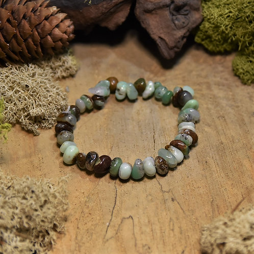 Bracelet baroque - chrysoprase de Tanzanie