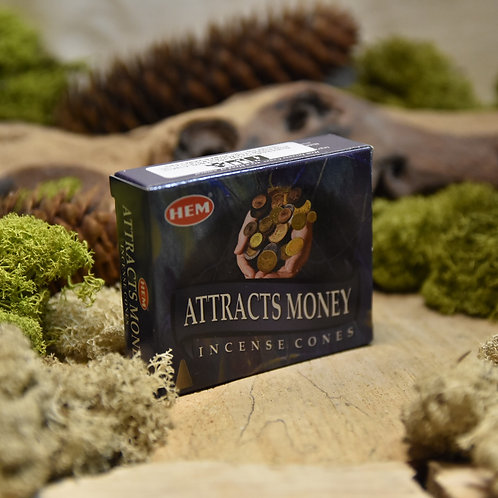 Encens Hem en cônes - Attract money