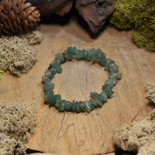 Bracelet baroque - aventurine verte