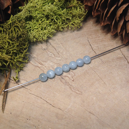 Perle aigue-marine 4 / 4.5mm