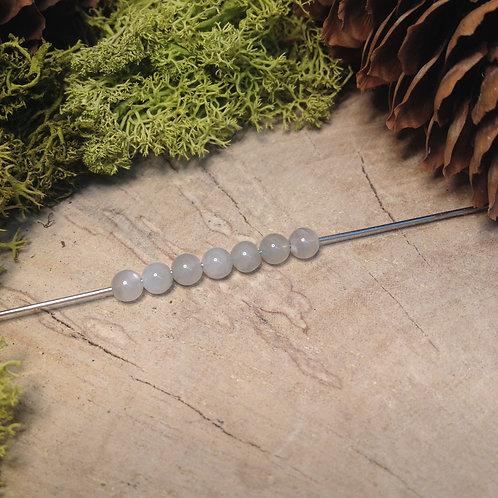 """Perle adulaire """"pierre de lune"""" 4 / 4.5mm"""