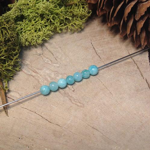 Perle amazonite 4 / 4.5mm