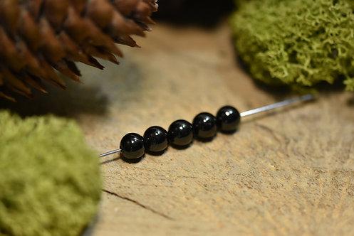 Perle jais 6 / 6.5mm