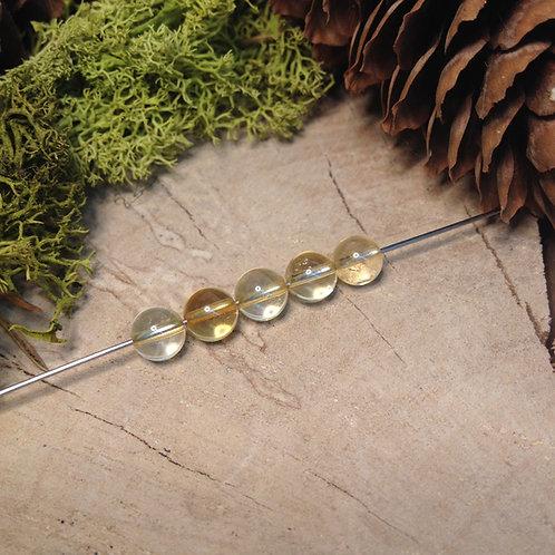 Perle citrine chauffée 6 / 6.5mm
