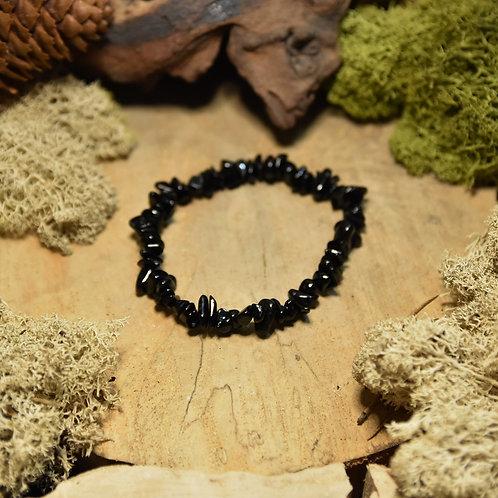 Bracelet baroque - tourmaline noire