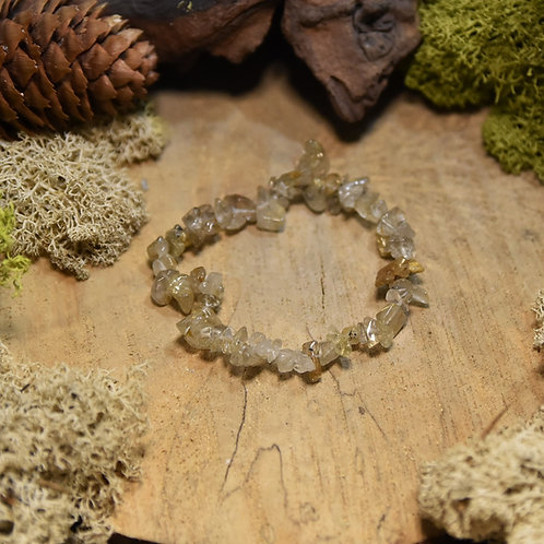 Bracelet baroque - quartz rutilé