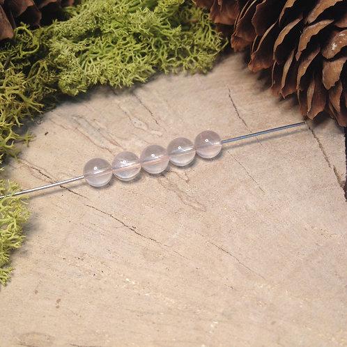 Perle quartz rose 6 / 6.5mm