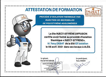 GTIsolation formation Inject-Styrène
