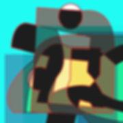 Reclining figure. Digital artwork.