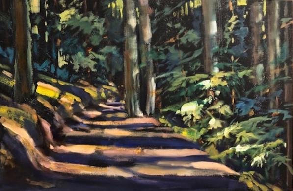 1.Oakland Hills Path. 12x18 300.jpg