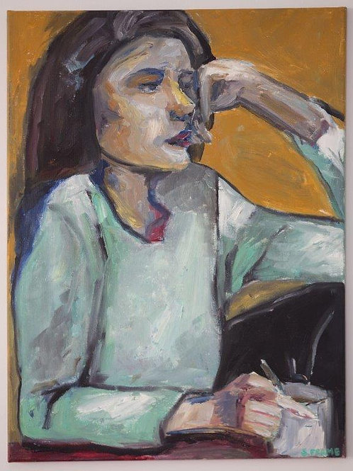 Woman Sitting with Coffee