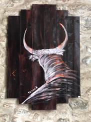 Peinture de Farouk exposée aux Cailloux Dorés
