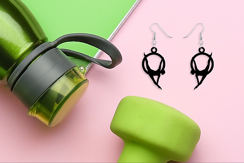 Lyra Black Statement Earrings