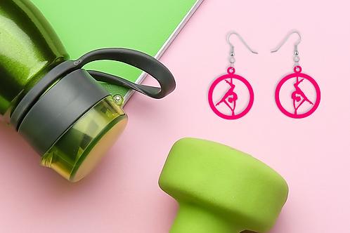 Pink Silks Statement Earrings