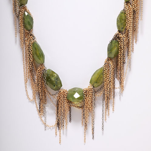 Peridot Fringe Necklace