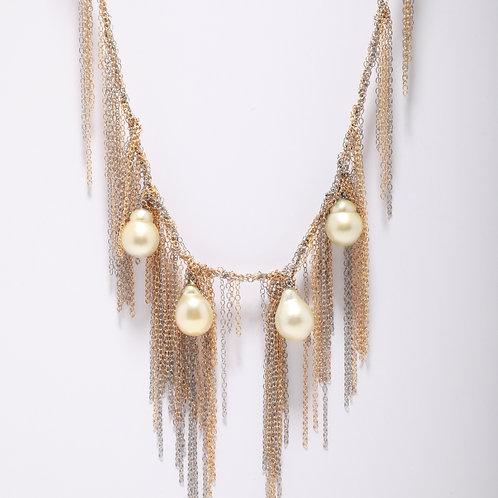White South Sea Pearl Fringe