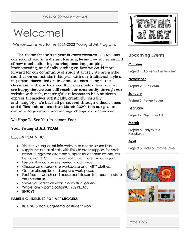 2021-2022 Young at Art - Welcome & Distance Learning Info.jpg