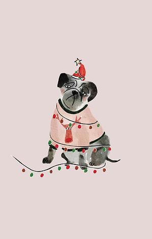 Kerst: Mopshond