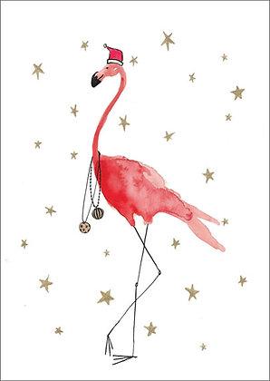Kerst: Flamingo