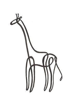 Lijntekening Giraffe