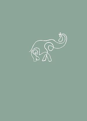 Olifant licht groen