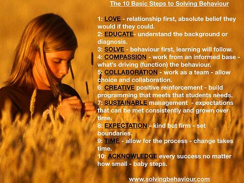 The Ten Steps to Solving Behaviour