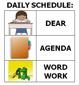 Classroom schedule visual