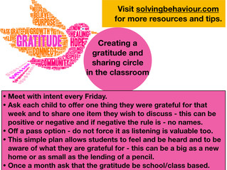 Creating a Grateful Classroom.